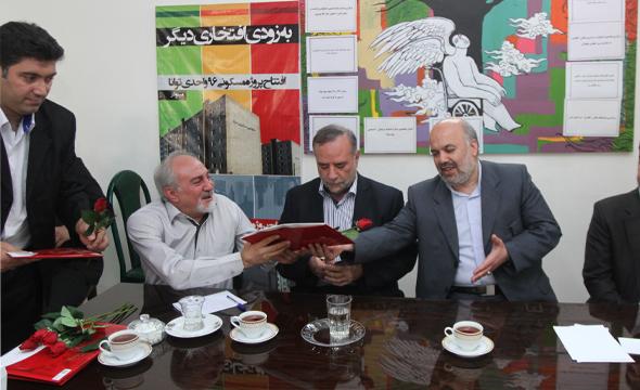 استاندار قزوین از کانون معلولین توانا بازدید کرد