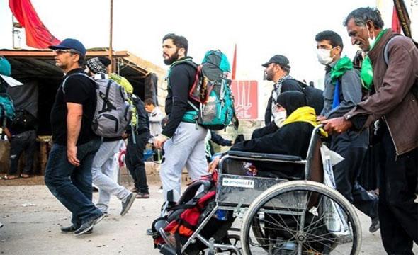 زائران معلول کربلای معلی خدمات رایگان توانبخشی دریافت می کنند