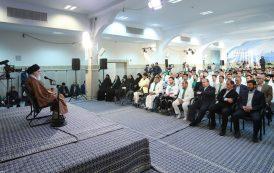 مدالآوران ایران در بازیهای پاراآسیایی در دیدار با رهبر معظم انقلاب اسلامی