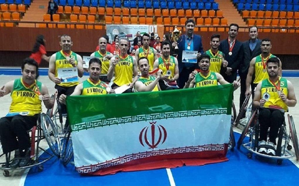 تیم بسکتبال با ویلچر فیروز در دومین رقابتهای بینالمللی ارمنستان به جایگاه نخست رسید