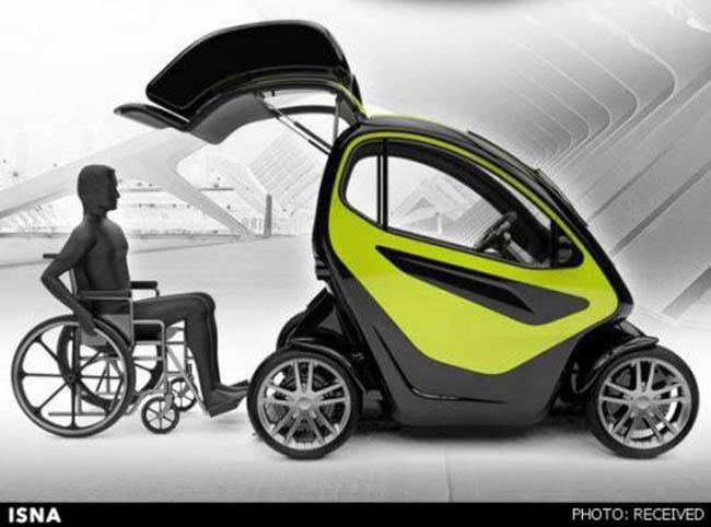 حل مشکل جابجایی معلولان با خودروی الکتریکی جدید