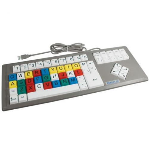 کلیدهای رنگی و بزرگ