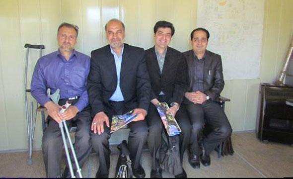 مسئول نمایندگی مجموعه شرکت بین المللی افغان فارما روز گذشته از کانون معلولین توانا بازدید کرد.